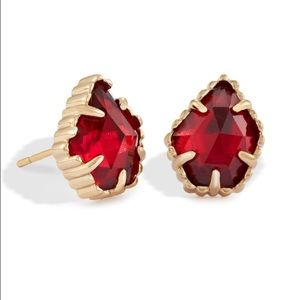 Kendra Scott Tessa Stud Earrings - Berry - Red